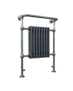 Arundel - Anthracite Traditional Towel Radiator - H963mm x W673mm - Floor Standing
