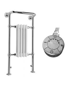 Arundel - White Traditional Electric Towel Radiator H963mm x W493mm 300w Thermostatic