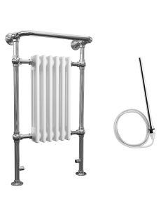 Arundel - White Traditional Electric Towel Radiator H963mm x W583mm 400w Standard