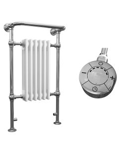 Arundel - White Traditional Electric Towel Radiator H963mm x W583mm 300w Thermostatic