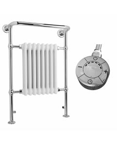Arundel - White Traditional Electric Towel Radiator H963mm x W673mm 600w Thermostatic