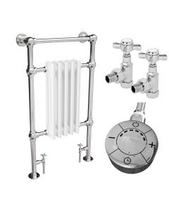 Adisham - Traditional Dual Fuel Towel Radiators H963mm x W538mm 300w Thermostatic