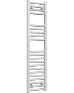 Diva - White Dual Fuel Towel Rail H1200mm x W300mm 600w Thermostatic - Straight