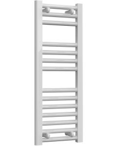 Diva - White Dual Fuel Towel Rail H800mm x W300mm 300w Thermostatic - Straight