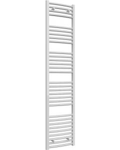 Diva - White Heated Towel Rail - H1800mm x W400mm - Curved