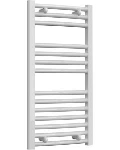 Diva - White Electric Towel Rail H800mm x W400mm Curved 150w Standard