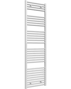 Diva - White Heated Towel Rail - H1800mm x W500mm - Straight