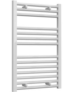 Diva - White Dual Fuel Towel Rail H800mm x W500mm 300w Thermostatic - Straight