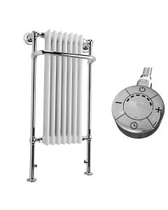 Balmoral - White Traditional Electric Towel Radiator H1130mm x W553mm 300w Thermostatic