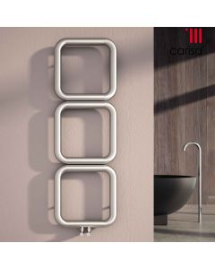 Baro - Stainless Steel Vertical Radiator H500mm x W500mm - Brushed