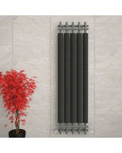 Dora - Grey Vertical Radiator H1800mm x W490mm