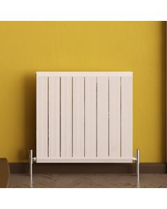 Elite - White Horizontal Radiator H600mm x W595mm
