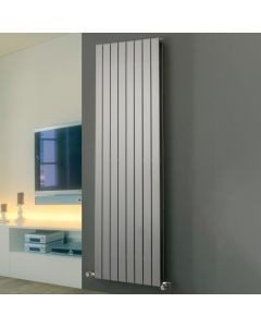 Mars Duo - Silver Vertical Radiator H1500mm x W445mm