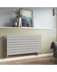 Mars - Silver Horizontal Radiator H595mm x W600mm Single Panel