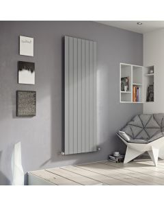 Mars - Silver Vertical Radiator H600mm x W445mm Single Panel