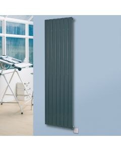 Mars Electro - Anthracite Vertical Electric Radiator H1800mm x W370mm 600w Standard
