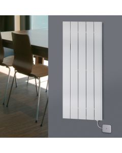 Mars Electro - White Vertical Electric Radiator H1800mm x W370mm 600w Standard