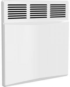 Optima - White Horizontal Electric Radiator H450mm x W450mm 500w Thermostatic
