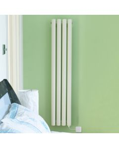 Vulkan Electro - White Vertical Electric Radiator H1800mm x W210mm 600w Standard