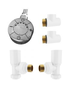 Talus - Dual Fuel Towel Rail Kit 600w Thermostatic White