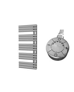 Percival - Silver Electric Towel Rail H1120mm x W500mm 600w Thermostatic