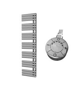 Percival - Silver Electric Towel Rail H1592mm x W500mm 1000w Thermostatic
