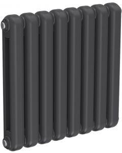 Coneva - Anthracite Column Radiator H550mm x W580mm 8 Columns