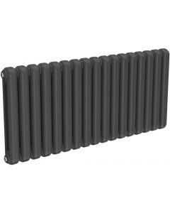 Coneva - Anthracite Column Radiator H550mm x W1210mm 17 Columns