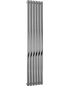 Neva - Chrome Vertical Radiator H1800mm x W354mm Single Panel