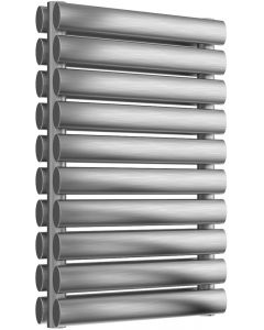 Artena - Stainless Steel Horizontal Radiator H590mm x W400mm Double Panel - Brushed