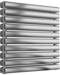 Artena - Stainless Steel Horizontal Radiator H590mm x W600mm Double Panel - Brushed