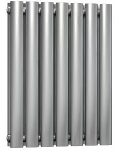 Nerox - Stainless Steel Horizontal Radiator H600mm x W413mm Double Panel - Brushed