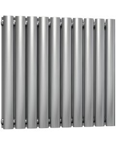 Nerox - Stainless Steel Horizontal Radiator H600mm x W590mm Double Panel - Brushed