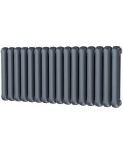 Sherwood - Anthracite Round Top Column Radiator H500mm x W1132mm 2 Column