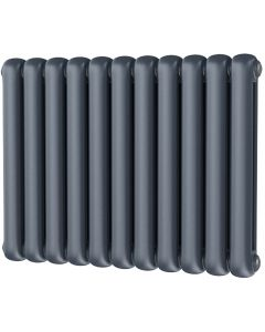 Sherwood - Anthracite Round Top Column Radiator H600mm x W785mm 2 Column