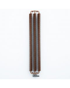 Ribbon V - Copper Vertical Designer Radiators H1720mm x W290mm Single Panel