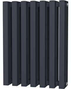 Temple - Anthracite Square Tube Column Radiator H600mm x W458mm