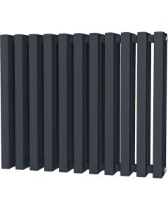 Temple - Anthracite Square Tube Column Radiator H600mm x W730mm