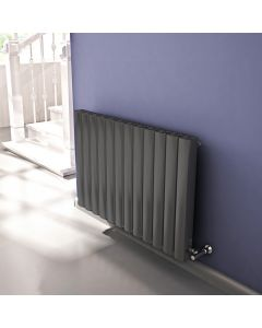Vesta - Grey Horizontal Radiator H600mm x W745mm