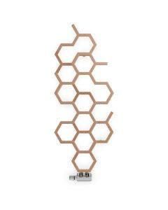 Hex - Copper Vertical Designer Radiators H1200mm x W486mm Single Panel