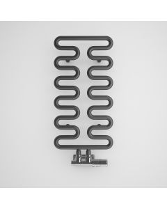 Aire - Anthracite Towel Radiators - H621mm x W300mm