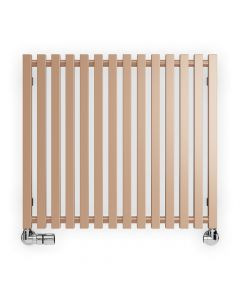Triga - Copper Horizontal Designer Radiators H610mm x W680mm Single Panel