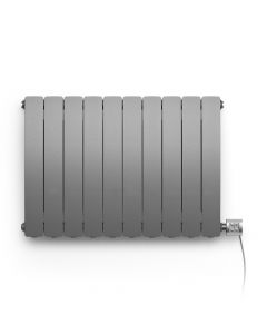 Camber - Graphite Horizontal Electric Radiator H575mm x W800mm 1000w Thermostatic