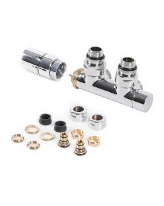 Integrated - Chrome Polished Right Side Thermostatic Valve Angled