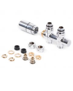 Integrated - Chrome Polished Right Side Thermostatic Valve Straight