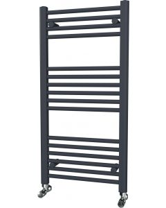 Zennor - Anthracite Heated Towel Rail - H1000mm x W500mm - Straight