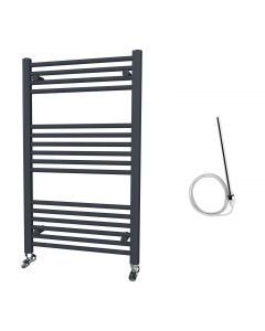 Zennor - Anthracite Electric Towel Rail H1000mm x W600mm Straight 600w Standard
