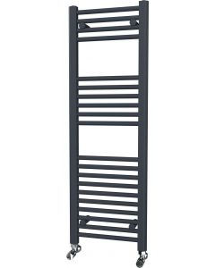 Zennor - Anthracite Heated Towel Rail - H1200mm x W400mm - Straight