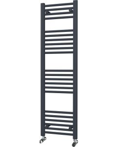 Zennor - Anthracite Heated Towel Rail - H1400mm x W400mm - Straight