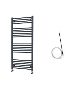 Zennor - Anthracite Electric Towel Rail H1400mm x W600mm Straight 600w Standard